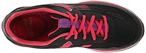 Dansko Dames Shayla Fashion Sneaker Zwart / Hot Pink Soepel
