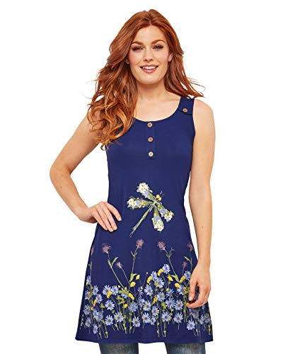 Joe Browns Womens Floral Dragonfly Tunic Blue ()
