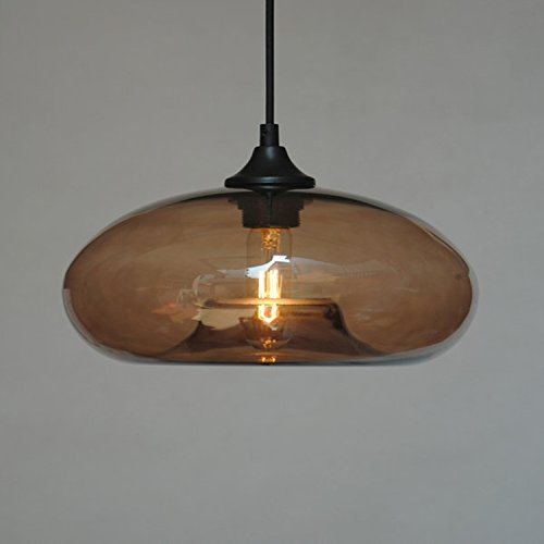 LightInTheBox Vintage Globe Chandelier Light Pendant Lamp Islamd Bowl Lighting with Glass Shade for Living Room Bedroom Dinning Room (Coffee)