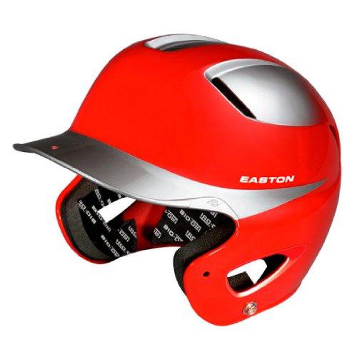 Easton Natural Two-Tone Senior Batting Helmet, (Silver Baseball Batting Helmet)