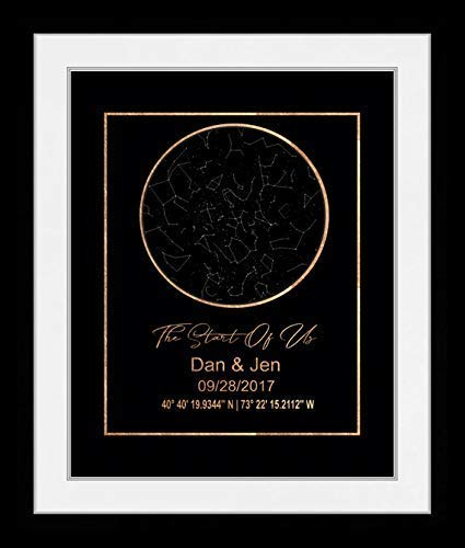 Star Map By Date And Location.Amazon Com Night Sky Art Print Sky Map Chart Print Star Map Prints