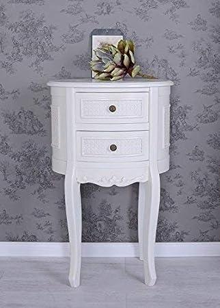 Shabby Chic Nachttisch Schränkchen Holz Weiß - my-shop24.ch