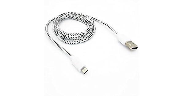 Amazon.com: LG Aristo Compatible blanco trenzado alambre de ...