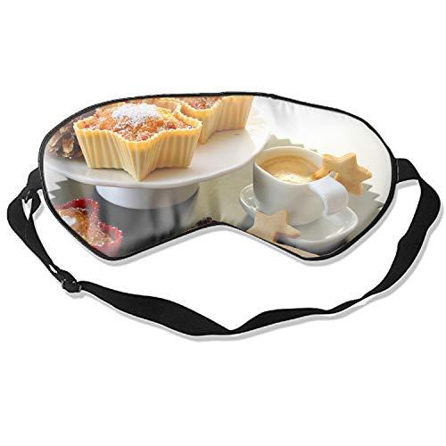 Sleep Eye Mask For Sleeping Cakes Coffee Pine Cones Christmas Adjustable Natural Silk Sleep