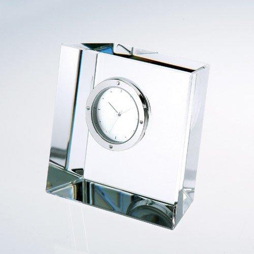 Slanted Optical Crystal Block Clock (Crystal Block Clock)