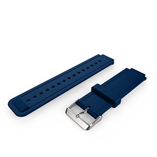 Price comparison product image Lisin For Garmin Vivoactive Acetate New Fashion Sports Silicone Bracelet Strap Band (Navy)