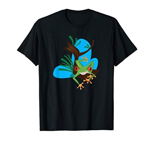 (Cute Red Eyed Tree Frog Shirt Kids Nature T-Shirt)
