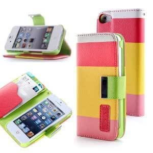 leather case for iPhone 5,iPhone 5 case,iPhone 5s case,Creativecase Carryberry Wallet Leather Carrying Case Cover for Credit ID Card Slots/ Money Pockets For iPhone 5 5S#5S01