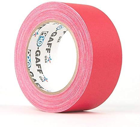 Pro Gaff 48 mm x 25 m disponibile in vari colori Rosso. Nastro in tessuto opaco fluorescente