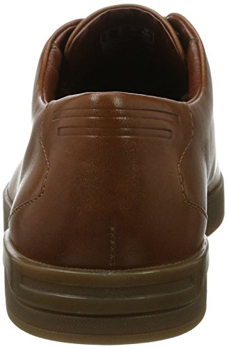 Clarks Stanway Lace, Zapatos de Vestir para Hombre Marrón (Tan Leather)
