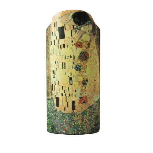 John Beswick 23 x 10 cm Klimt The Kiss Silhouette d'art Vase, Multi-Colour