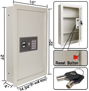 Secure-Digital-Cash-Jewelry-08-Flat-Recessed-Wall-Electronic-Safe-Large-Gun