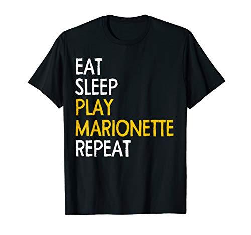 Eat Sleep Play Marionette Repeat Tshirt Funny Marionette tee ()
