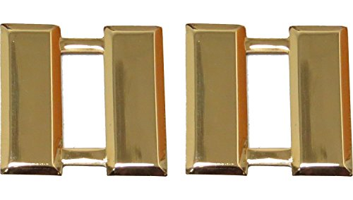 Captain Bars, Gold Plated, Small, Pair (3/4