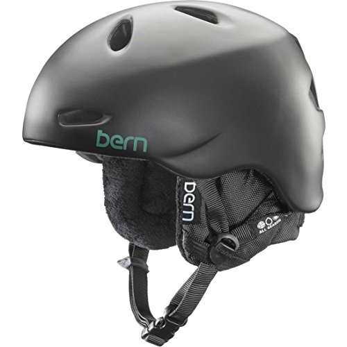 Bern 2014/15 Womens Berkeley Winter Snow Helmet - w/Knit Liner (Satin Black w/ Black Liner - - Helmet Knit Berkeley