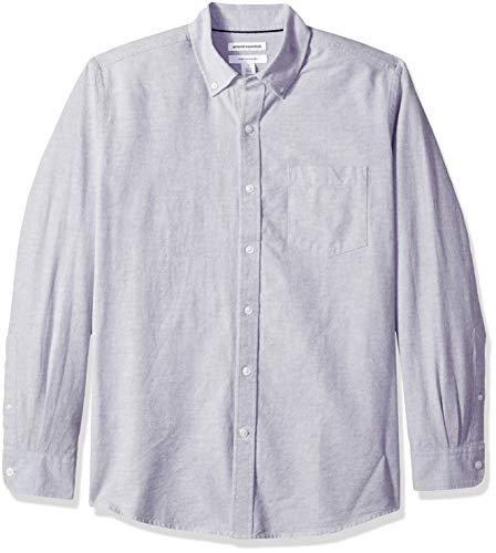 Amazon Essentials Men's Regular-Fit Long-Sleeve Solid Pocket