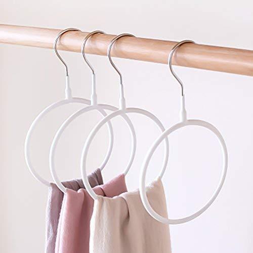 JiaUfmi 10pcs Plastic Load Bearing Scarf Hangers White Wardr