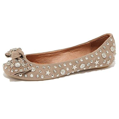 78360 ballerina JEFFREY CAMPBELL HALEY STARS BORCHIE scarpa donna shoes women Beige