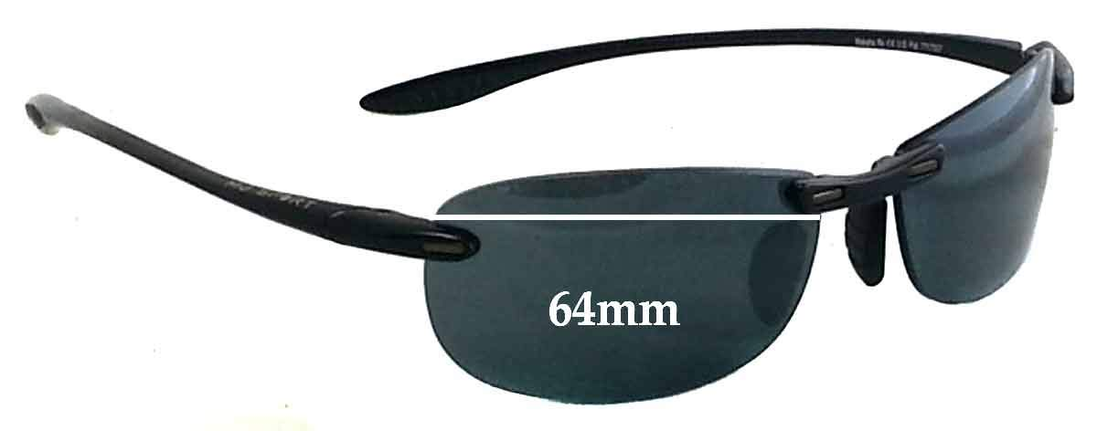 2cbb46bf4f58f Amazon.com  SFx Replacement Sunglass Lenses fits Maui Jim Sport Makaha RX  MJ905 64mm Wide (Polycarbonate Clear Hardcoat Pair-Regular)  Clothing