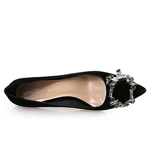 Chaussures Femme Hauts black à Talons Chaussures De La Superficielles XBxrXwPq