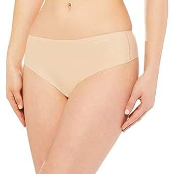 Calvin Klein Women's Invisibles Comfort High Waist Thong, Bare, S