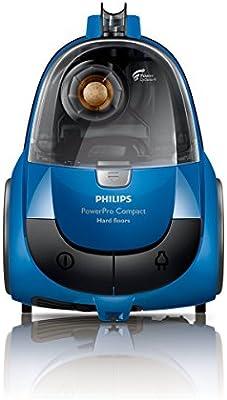 Philips PowerPro Compact FC9321/09 - Aspirador sin bolsa, con tecnología PowerCyclone, cepillo para suelos duros, color azul: Amazon.es: Hogar