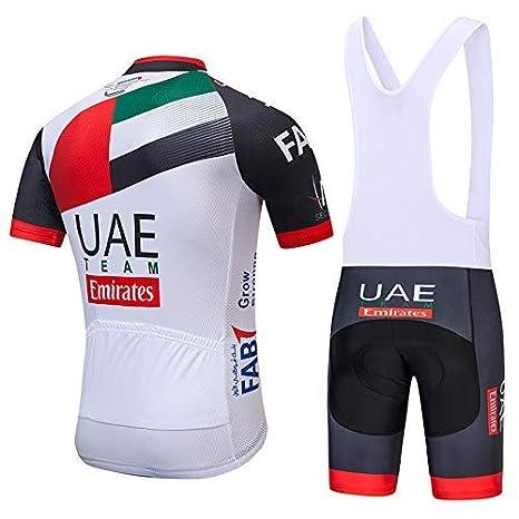 Completo Maglia Ciclismo con Pantaloni Corti da Ciclismo Asciugatura Asciugatura Rapida per MTB Ciclista SUHINFE Abbigliamento Ciclismo Uomo