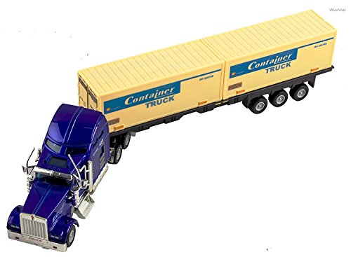 WolVol Containers Carrier Commercial Toy Trailer Truck with