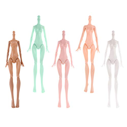 Fenteer Custom Moveable Joints Nude Doll Body Mold for Monster High Dolls DIY Making and Repairing Accessory Set of 5 Pieces -