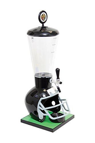 Beer Tubes Black Football Helmet Beverage Tower Dispenser with Commercial Tap, 128 oz. Super Tube, FBK-ST-C by Beer Tubes