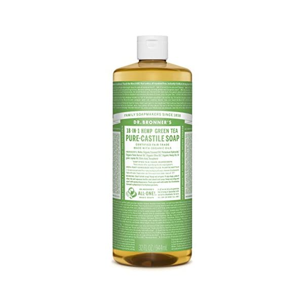 Dr Bronner's 946 ml Organic Green Tea Castile Liquid Soap