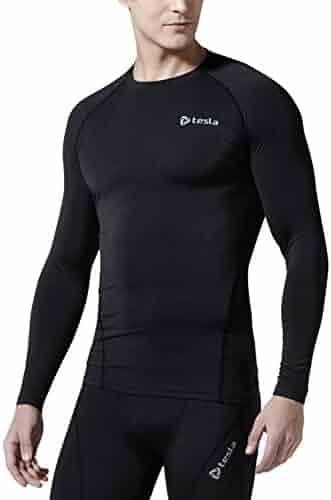 Tesla Men's Long Sleeve T-Shirt Baselayer Cool Dry Compression Top R11/R19