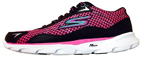 Skechers Go Run Sonic 2 Womens Running Shoes Black/Hot Pink 7.5