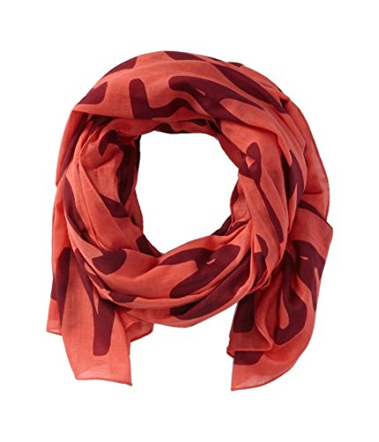 Marc by Marc Jacobs Women's Adults Suck Logo Scarf, Rose Bush Multi, One Size