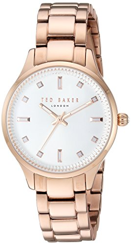 Ted Baker Women's 'ZOE' Quartz Stainless Steel Casual Watch, Color:Rose Gold-Toned (Model: TE50006001)