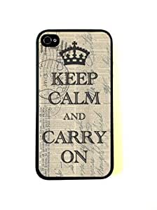 Bereadyship Keep Calm Case On Vintage Dictionary Keep Calm Poster for iPhone 4 Case - Fits for iPhone 4 and iPhone 4S by icecream design