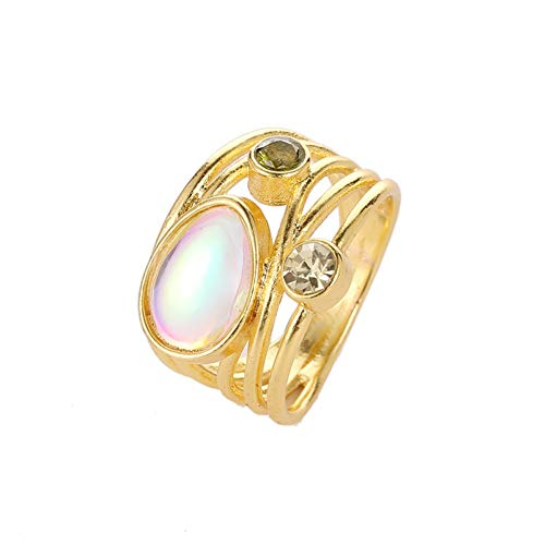 OMNFAS Wedding Ring Baguette and Round Diamond Multi-Row Ring in Gold Diamond Ring