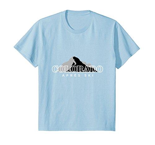 Price comparison product image Kids Colorado Apres Ski Winter Sports T-Shirts 8 Baby Blue