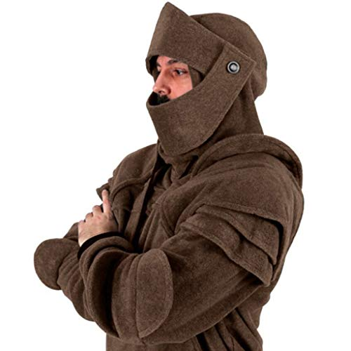 Rovinci Abrigos para Hombre Soldado Máscara Máscara de Codo Guardia Pullover Botón Manga Larga Sólido Sudaderas con Capucha Tops Blusa: Amazon.es: Ropa y ...