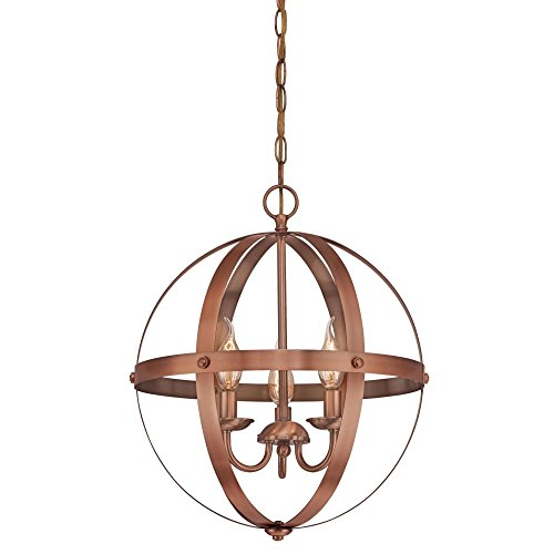 3 Light Pendant Copper in US - 5