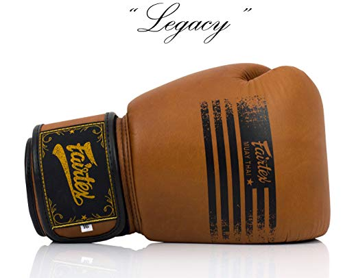 Legacy Boxing Gloves Genuine Leather Retro Classic Brown (14oz) ()