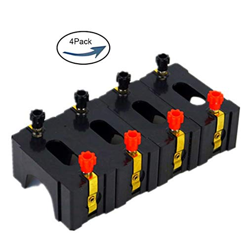 4pcs Lime2018 Battery Case, Series or Parallel D Battery Holder:Used for Physics Laboratory,School Electronic Experimenting,Great for Demos Teaching Basic Principles of Electricity