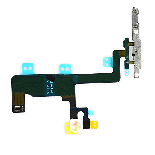 (Johncase New OEM Switch On/Off Power Button + Volume Control + Flash Light + Mic + Mute Connector Flex Cable w/Bracket Replacement Part for iPhone 6 4.7)