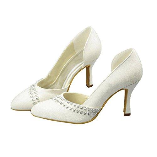 Kevin Fashion , Sandales Compensées femme - Beige - ivoire, 43