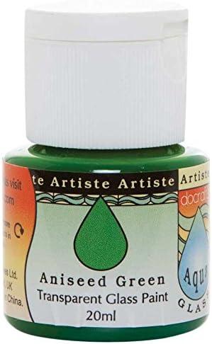 Artiste 20 ml pintura para Aquaglass cristal transparente, anís verde