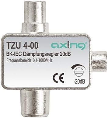 Axing TZU 4-00 Atenuador de señal de cable o TDT para conector coaxial (0,5-20 dB)