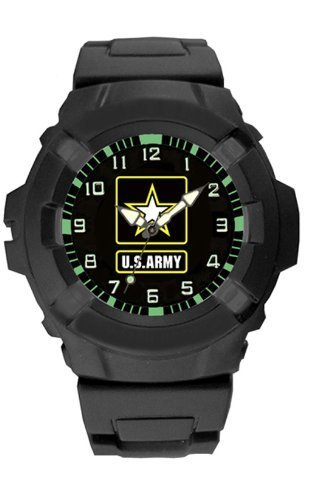 Aqua Force US Army LOGO 47 mm Durchmesser Quartz Watch, schwarz with schwarz Face By Aqua Force