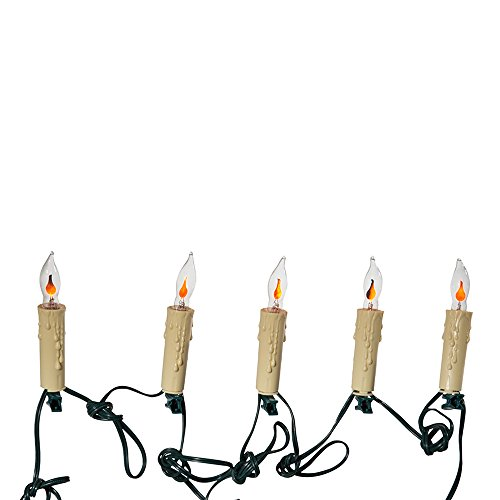 Kurt Adler 7-Light Flicker Flame Candle Light Set