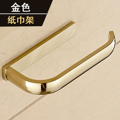 Yomiokla Bathroom Accessories - Kitchen, Toilet, Balcony and Bathroom Metal Towel Ring American Minimalist Style Gold Plated Classical Antique Racks Mounted in Gold (USA) Paper Towel Rack by Yomiokla