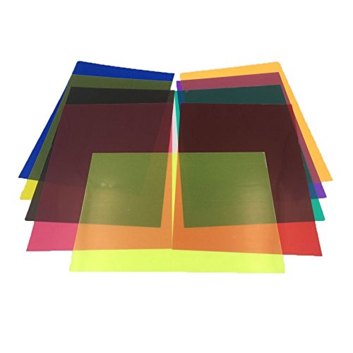 Sakolla 18 Pieces Colored Overlays Light Gels Transparency Color